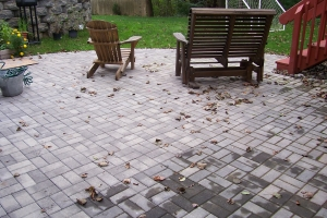 Herringbone Patio & Wall