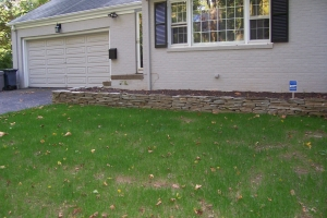 New Front Wall & Walkway