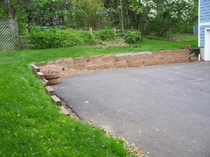 Replacing a Railroad Tie Wall