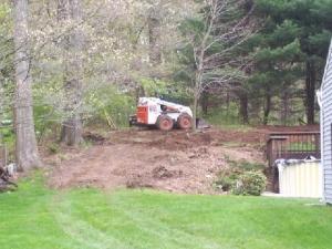 Backyard Regrading