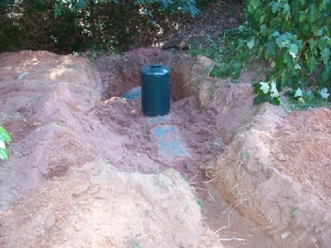 Burying a Propane Tank