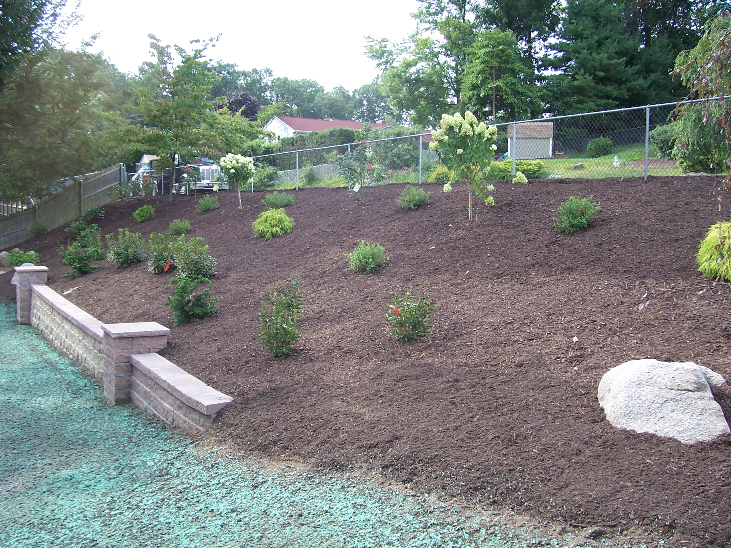 backyard hillside garden country landscaping llc