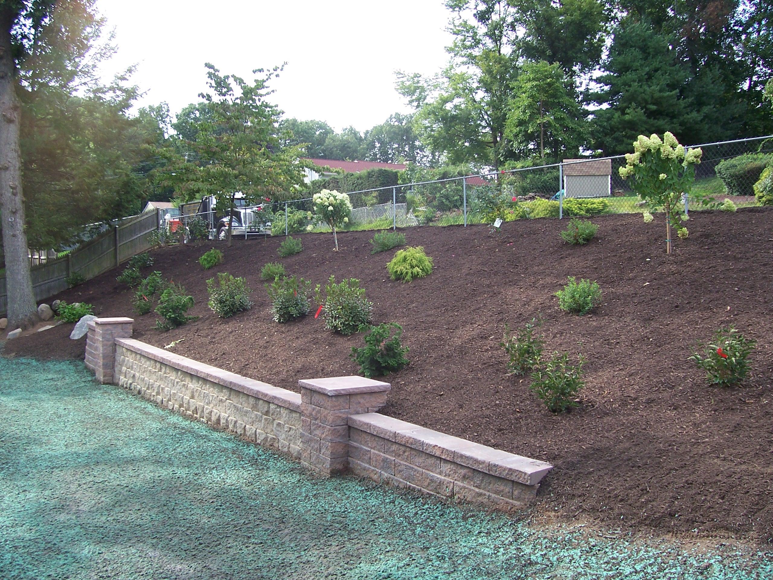 Backyard Hillside Garden Country Landscaping Llc