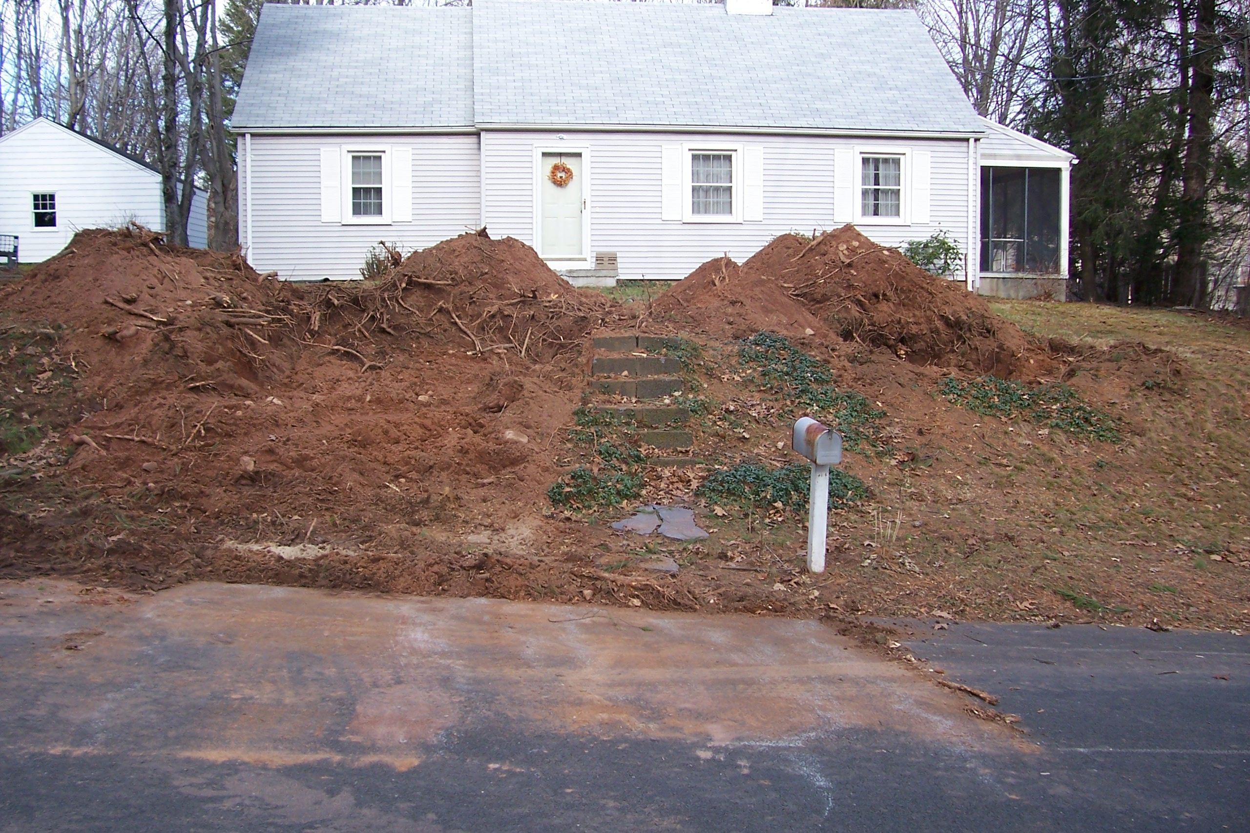 Re Grading A Front Yard